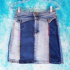 Pepe Jeans London Unique Panels Denim Mini Skirt